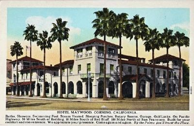 The Hotel Maywood Postcard from the 1920's image. Click for full size.