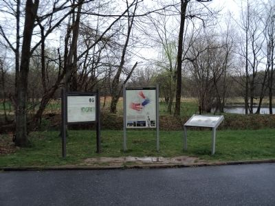 Markers on the Monocacy National Battlefield image. Click for full size.