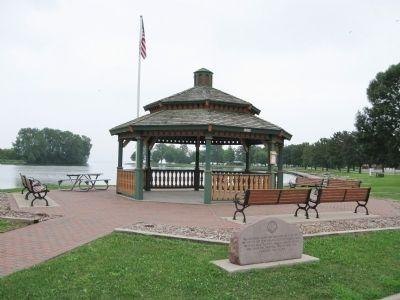 Kiwanis Clubs Gazebo and Marker image. Click for full size.