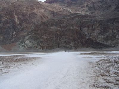 Death Valley 49ers Gateway , on the salt flats at Badwater Basin image. Click for full size.