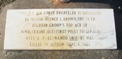 Major Quince L. Brown, USAAF Memorial Photo, Click for full size