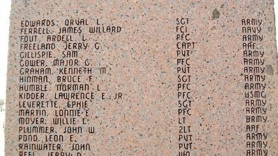 VFW Post 3656 War Memorial Honor Roll image. Click for full size.