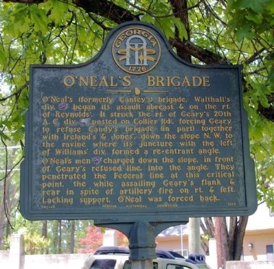 O'Neal's Brigade Marker image. Click for full size.