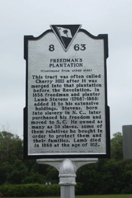 Freedman's Plantation Marker Photo, Click for full size