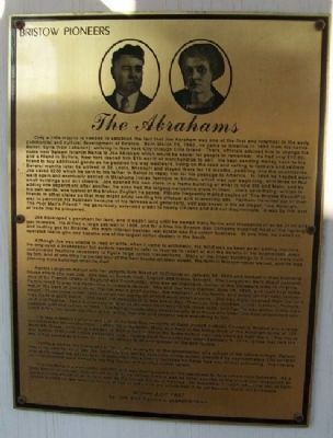 The Abrahams Marker image. Click for full size.