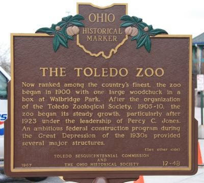 The Toledo Zoo Marker image. Click for full size.