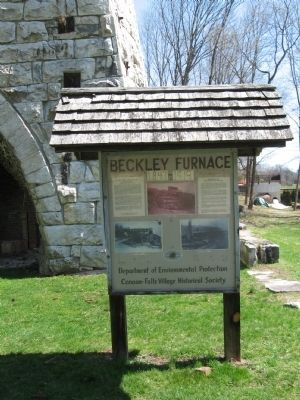 Beckley Furnace Information Kiosk image. Click for full size.