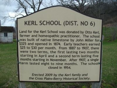 Kerl School Marker image. Click for full size.