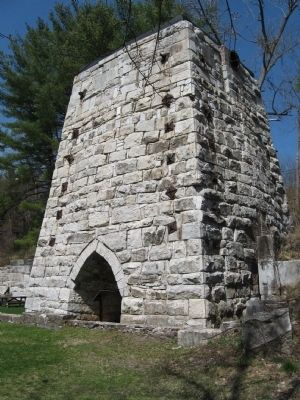 The Beckley Furnace Tuyere Arch image. Click for full size.