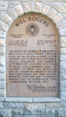 Will Rogers Memorial Marker Photo, Click for full size
