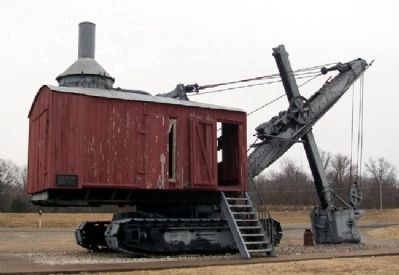 Wilkinson Coal Company Steam Shovel & Marker image. Click for full size.