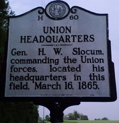 Union Headquarters Marker Photo, Click for full size