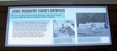 George Washington Carver's Birthplace Marker image. Click for full size.