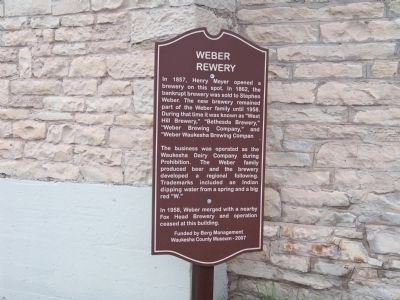 Weber Brewery Marker image. Click for full size.