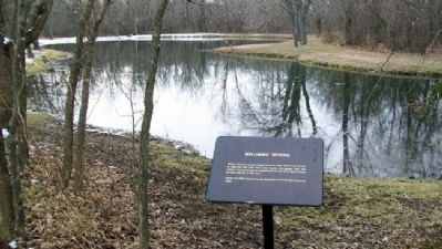 Williams' Spring (Pond) and Marker image. Click for full size.