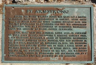 Ft. Armstrong Marker Photo, Click for full size