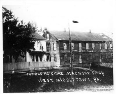The old McClure Machine Shop of West Middletown, Pennsylvania image. Click for full size.