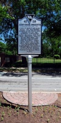 Converse Heights Marker -<br>Front image. Click for full size.