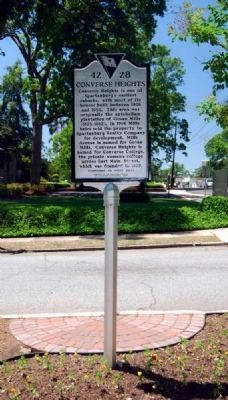 Converse Heights Marker -<br>Reverse image. Click for full size.
