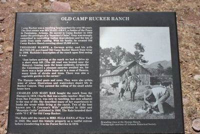 Old Camp Rucker Ranch Marker image. Click for full size.