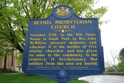 Bethel Presbyterian Church Marker image. Click for full size.