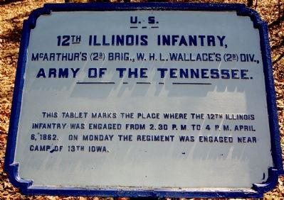 12th Illinois Infantry Marker image. Click for full size.