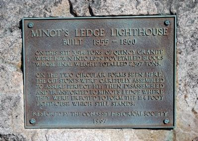 Minot's Ledge Lighthouse Marker image. Click for full size.