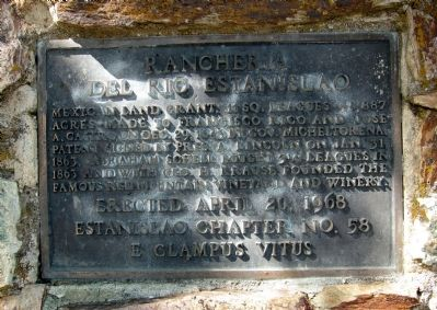 Rancheria del Rio Estanislao Marker image. Click for full size.