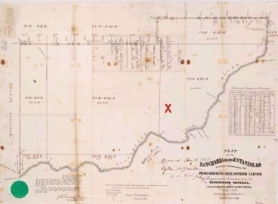 Plat of Rancheria del Rio Estanislao image. Click for full size.