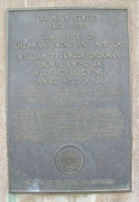 Law Offices of Sherman, Ewing, and McCook Marker image. Click for full size.