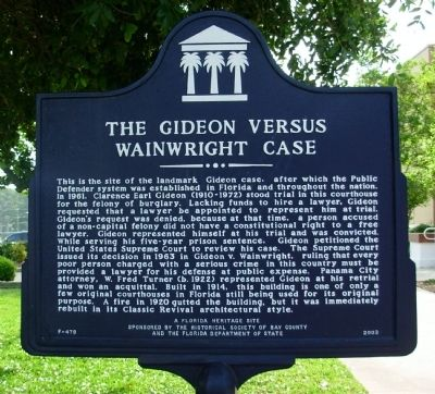 The Gideon Versus Wainwright Case Marker image. Click for full size.
