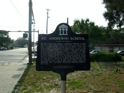 St. Andrew(s) School Marker Photo, Click for full size