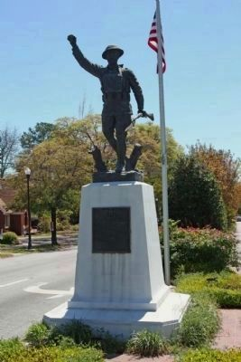 """The Spirit of the American Doughboy"" Marker, here known as the ""Olympia version"" image. Click for full size."