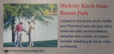 McCormick County Marker -<br>Hickory Knob State Resort Park image. Click for full size.