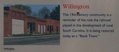 McCormick County Marker -<br>Willington image. Click for full size.