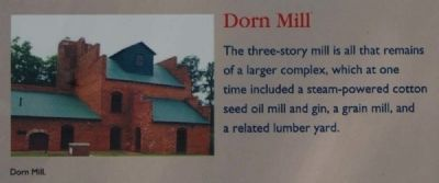 McCormick County Marker -<br>Dorn Mill image. Click for full size.