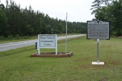 Hope Rosenwald School Marker, looking south along Hope Station Road image. Click for full size.