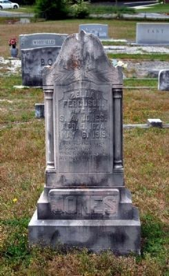 Zella Ferguson Tombstone image. Click for full size.