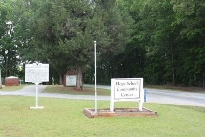 Hope Rosenwald School Marker, looking north along Hope Station Road image. Click for full size.