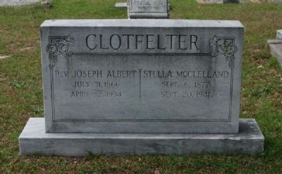 Clotfelter Tombstone image. Click for full size.