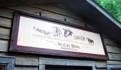 McGee Harness Shop Overhead Sign image. Click for full size.