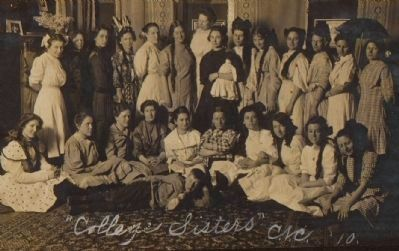 College Sisters, 1910 Photo, Click for full size