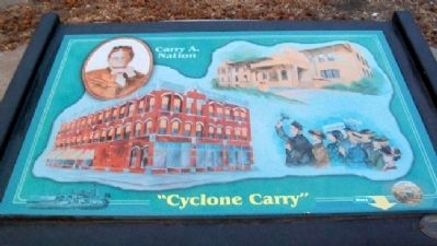 Cyclone Carry [sic - Carrie] Marker image. Click for full size.