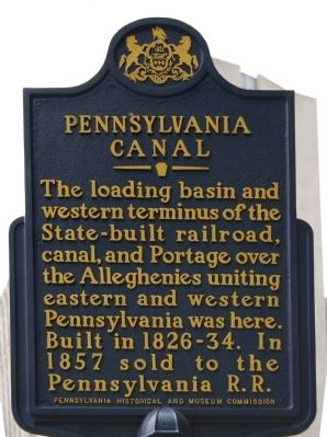 Pennsylvania Canal Marker image. Click for full size.