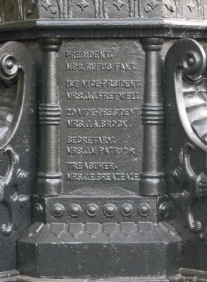 Robert Anderson Memorial Fountain -<br>North Inscription image. Click for full size.