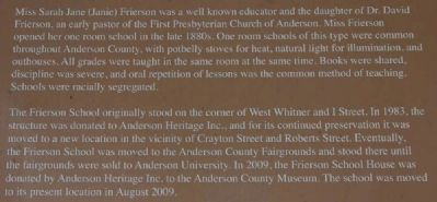 Frierson School House Marker image. Click for full size.