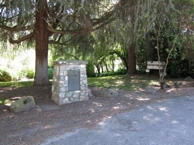 Knight's Ferry Marker - wide view image. Click for full size.