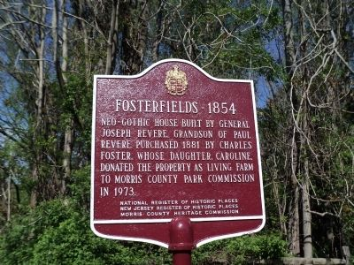 Fosterfields – 1854 Marker image. Click for full size.
