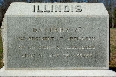 Battery A, 1st Illinois Artillery Marker image. Click for full size.