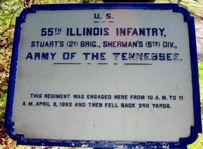 55th Illinois Infantry Marker image. Click for full size.